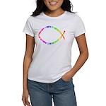 Jesus fish Women's White T-Shirt