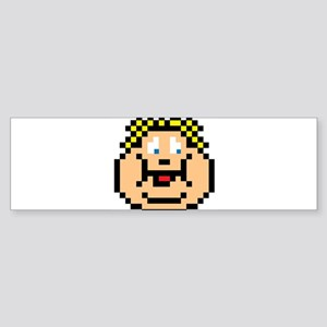 Geeky 8-Bit Pixel Character Fat Kid Bumper Sticker