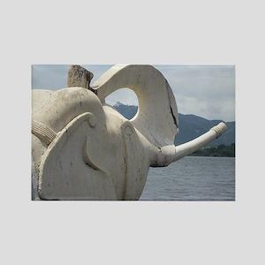 Elephant at Udaipur Rectangle Magnet