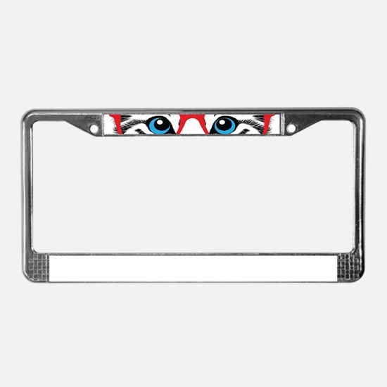 Stylish Cat License Plate Frame