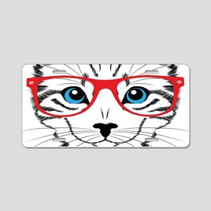 Stylish Cat Aluminum License Plate