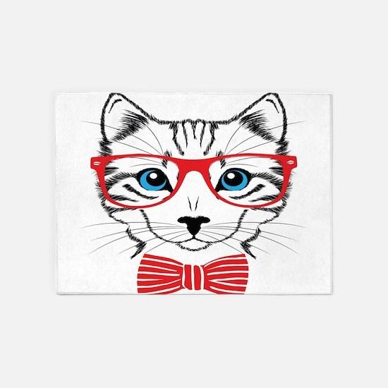 Stylish Cat 5'x7'Area Rug