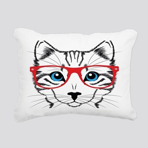 Stylish Cat Rectangular Canvas Pillow
