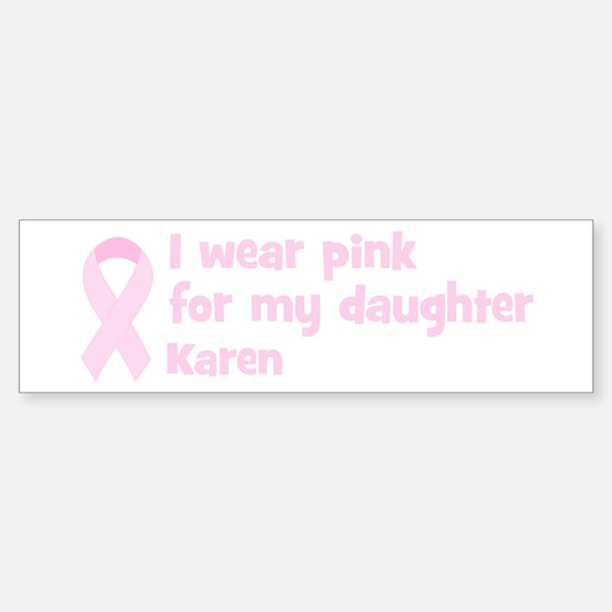 Daughter Karen (wear pink) Bumper Car Car Sticker