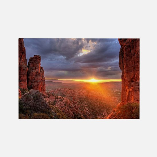 Grand Canyon Sunset Rectangle Magnet