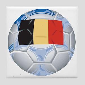 Belgium Football Tile Coaster