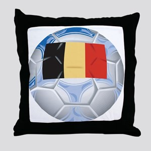 Belgium Football Throw Pillow