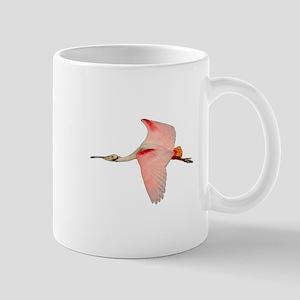 Spoonbill in Flight Mugs