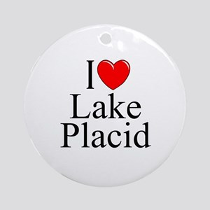 """I Love Lake Placid"" Ornament (Round)"