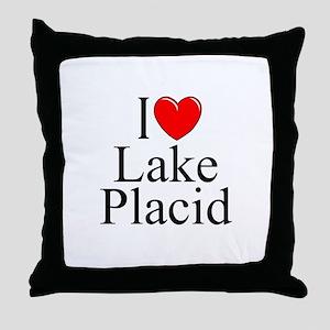"""I Love Lake Placid"" Throw Pillow"