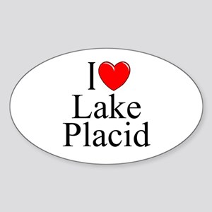 """I Love Lake Placid"" Oval Sticker"