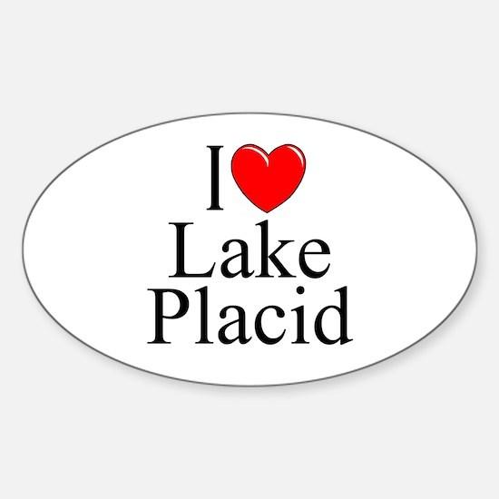 """I Love Lake Placid"" Oval Decal"