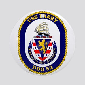 Uss Barry Ddg-52 Ornament (round)