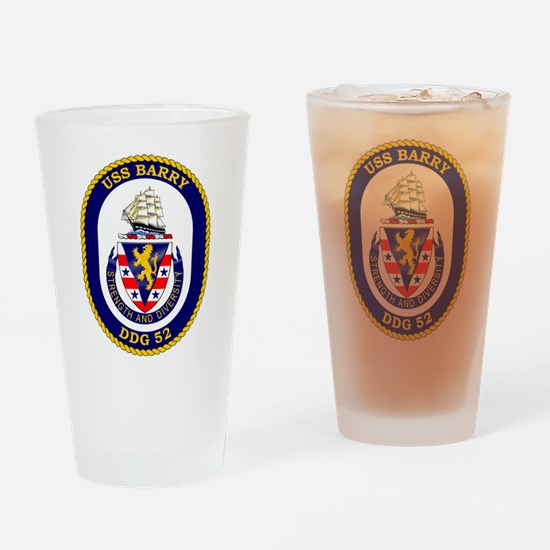 USS Barry DDG-52 Drinking Glass