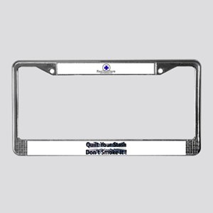 Quilt your stash License Plate Frame