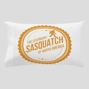 Orange Sasquatch Of North America Pillow Case