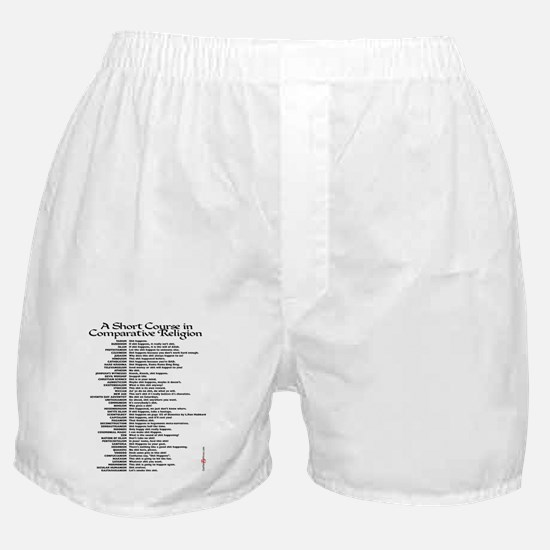 Comparative Religions Boxer Shorts