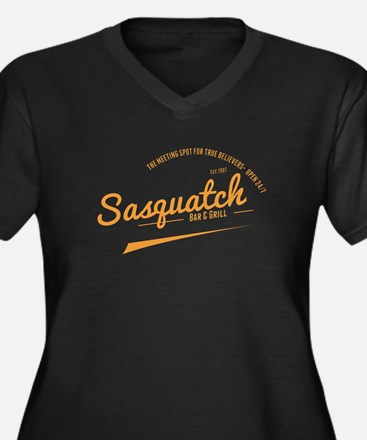 Orange Sasquatch Bar And Grill Plus Size T-Shirt