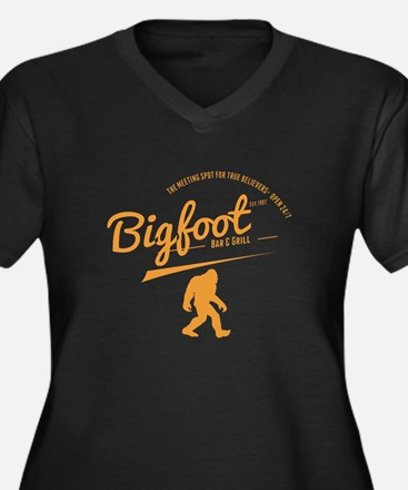 Orange Bigfoot Bar And Grill Plus Size T-Shirt