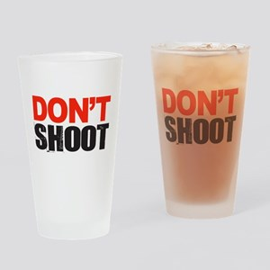 Hands Up Don't Shoot Drinking Glass