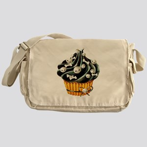 Black Halloween Cupcake Messenger Bag