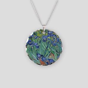 Irises by Vincent Van Gogh Necklace