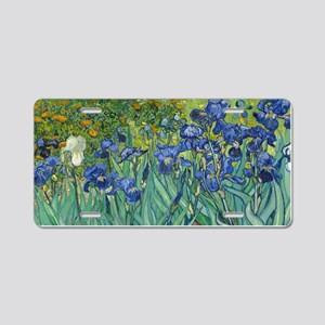 Irises by Vincent Van Gogh Aluminum License Plate