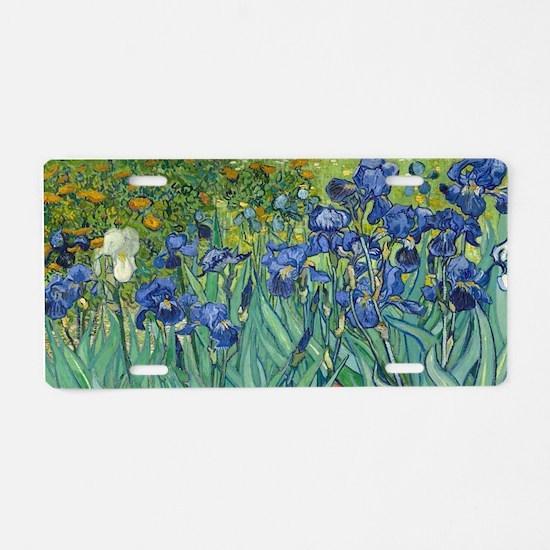 Irises by Vincent Van Gogh Aluminum License Plate