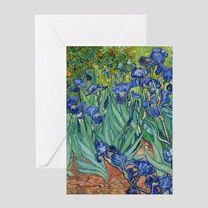 Irises by Vincent Van Gogh Greeting Cards