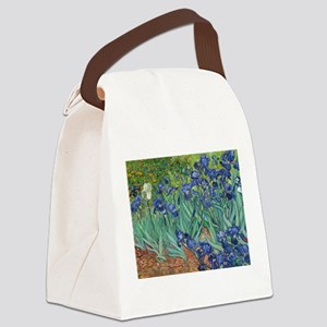 Irises by Vincent Van Gogh Canvas Lunch Bag