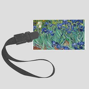 Irises by Vincent Van Gogh Luggage Tag