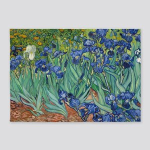 Irises by Vincent Van Gogh 5'x7'Area Rug
