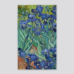 Irises by Vincent Van Gogh 3'x5' Area Rug