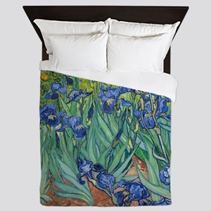 Irises by Vincent Van Gogh Queen Duvet