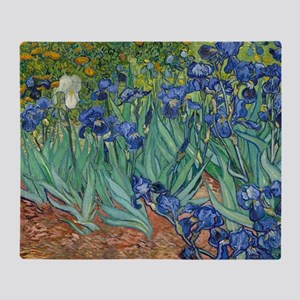 Irises by Vincent Van Gogh Throw Blanket