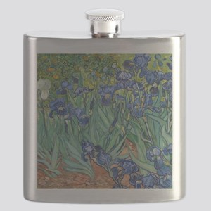 Irises by Vincent Van Gogh Flask