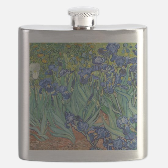Irises by Vincent Van Gogh Flask