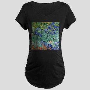 Irises by Vincent Van Gogh Maternity T-Shirt