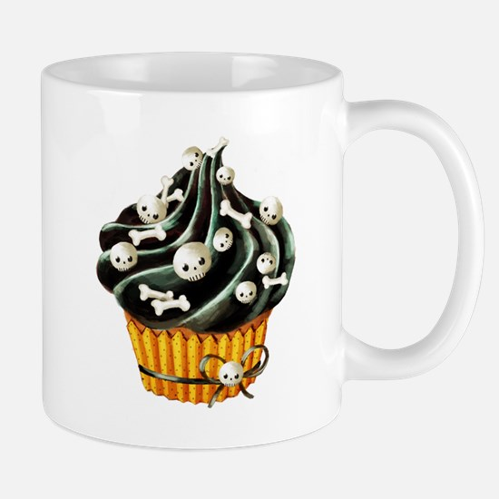 Black Halloween Cupcake Mugs