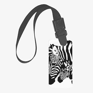 Zebra Power Small Luggage Tag