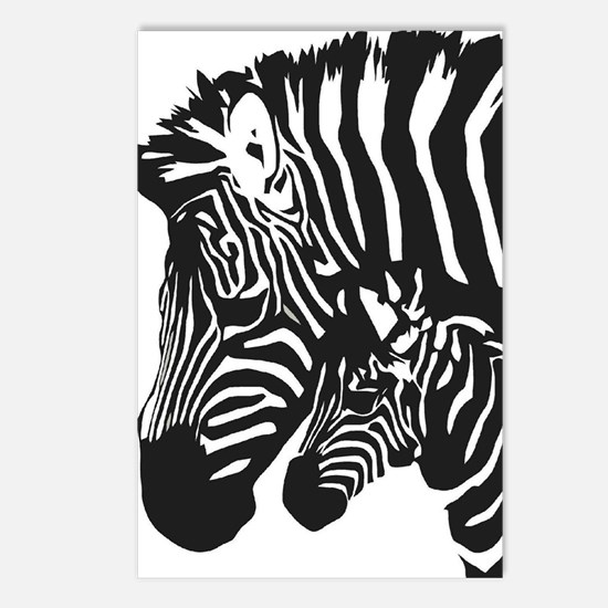 Zebra Power Postcards (Package of 8)