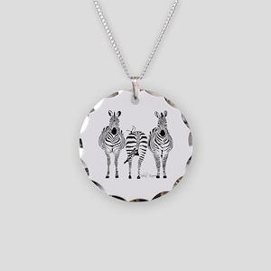 Zebra Power Necklace Circle Charm