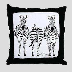 Zebra Power Throw Pillow