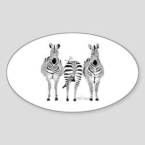 Zebra Power Sticker (Oval)