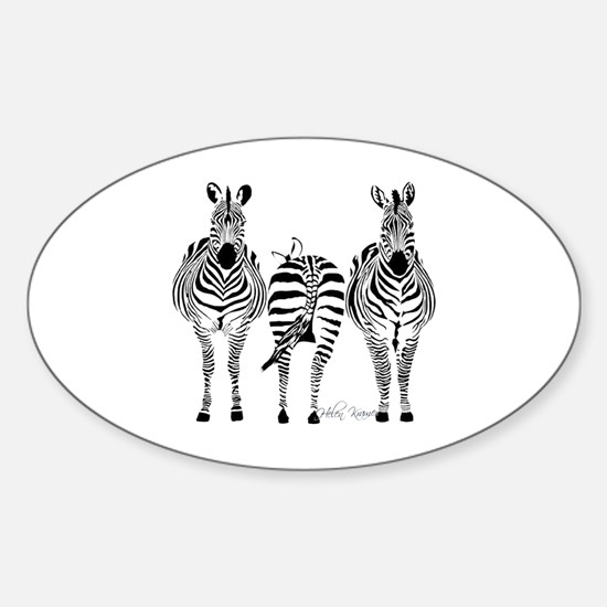 Zebra Power Sticker (Oval)