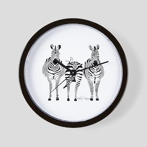 Zebra Power Wall Clock
