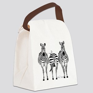 Zebra Power Canvas Lunch Bag