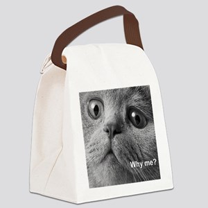 Why me cat. Canvas Lunch Bag