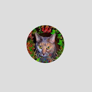 Yellow-Eyed Cat Art Mini Button