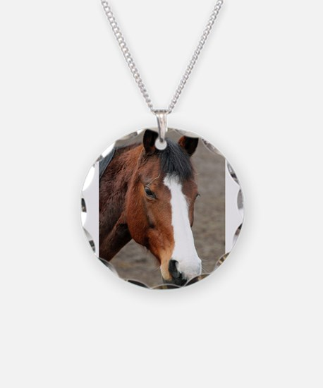 Cute Wild horse reflections Necklace